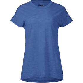 Bergans Oslo Koszulka wełniana Kobiety, riviera blue